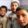 Kabul: A group of boys gather as one of their peers is being evaluated for cerebral palsy