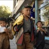 Kabul: Children play on the streets of a Kabul bazaar