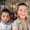 Kabul: Two brother's outside their father's shop