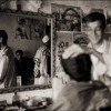 Kabul: A skilled barber calms his nervous customer