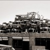 Kabul: Destroyed city buses piled up in a junkyard in Kabul