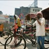 Patna: A bicycle rickshaw driver waits for his next customer