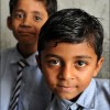Patna: Two young students pose for a photograph