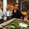 Phnom Penh: Renowned Cambodian architect Vann Molyvann (suspenders) and other experts judge a student architecture competition