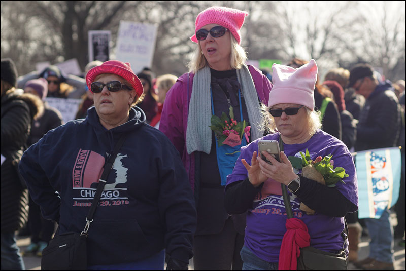 hundreds of thousands march for women's rights