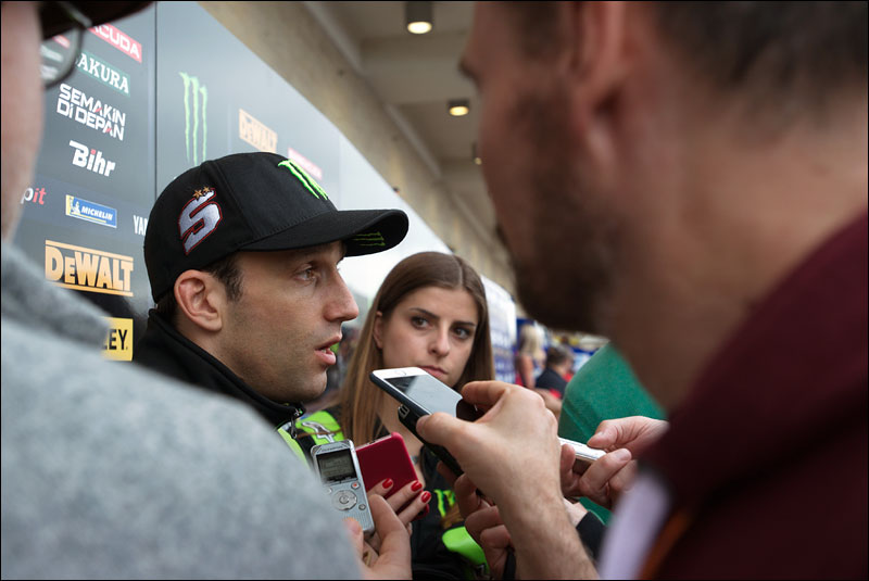 French MotoGP rider Johann Zarco addresses the press at the 2018 Motorcycle Grand Prix of the Americas